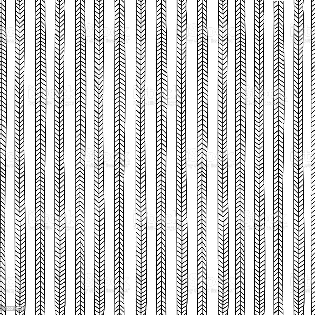 Vector endless seamless pattern with repeating stylized pigtails royalty-free stock vector art