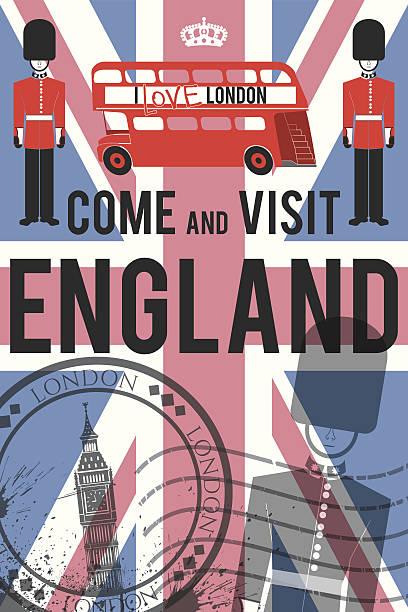 Vektor-England-Einladung poster – Vektorgrafik