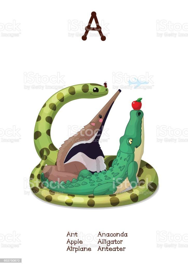 Ilustración de Vector Serie De Alfabeto De Animales Graciosos ...