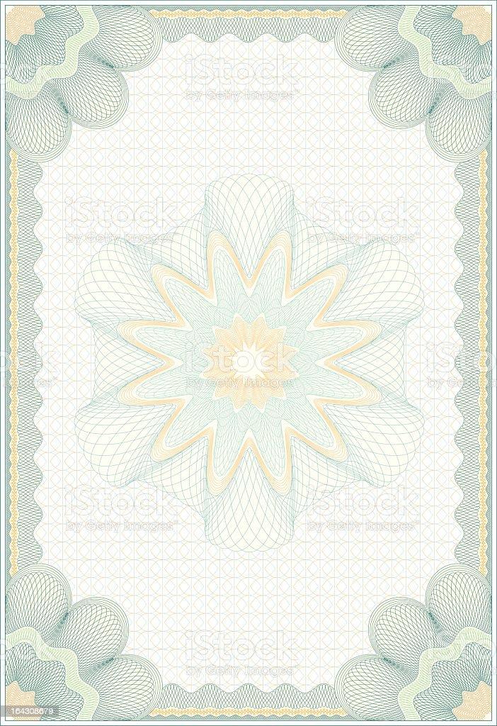Vector Engraved Guilloche Diploma royalty-free stock vector art