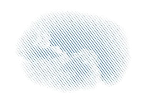 Vector engraving of a Cumulus cloud vector art illustration