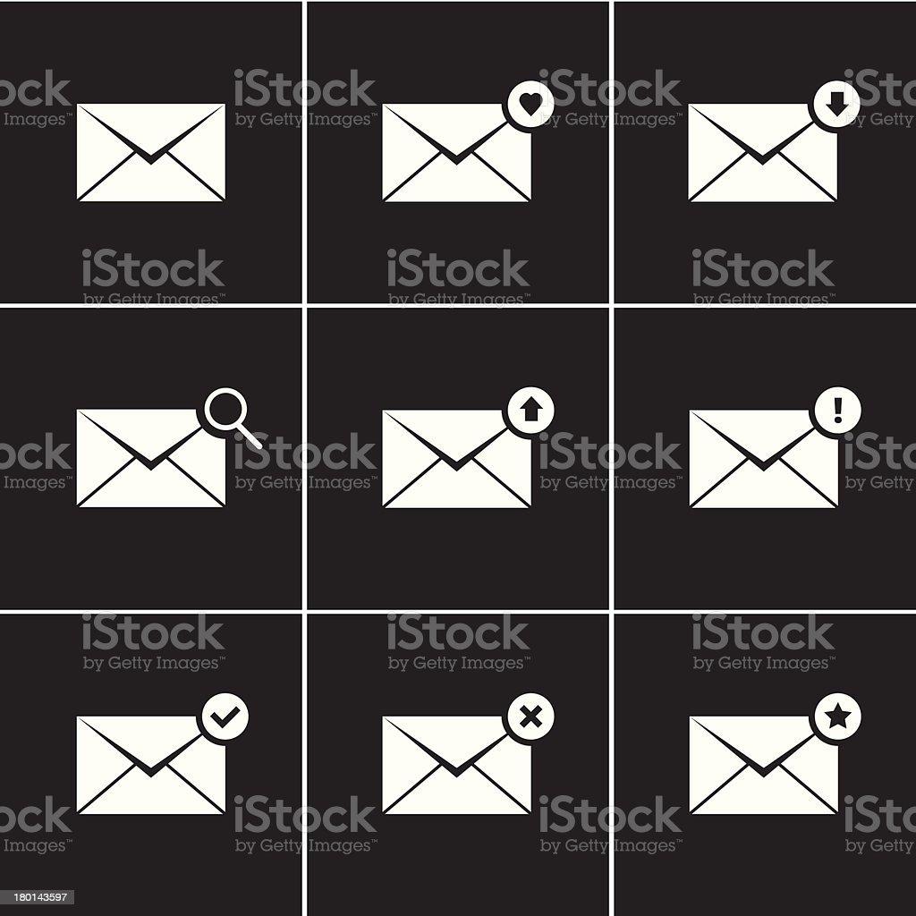 Vector Envelope Icons Set royalty-free stock vector art