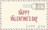 """Vector envelope with text """"happy valentine's day"""""""