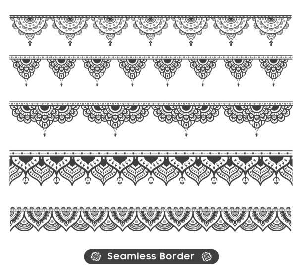 illustrations, cliparts, dessins animés et icônes de vecteur ethnique mandala conception de la frontière mandala - tatouages asiatiques