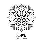 Vector ethnic mandala illustration. Boho design.