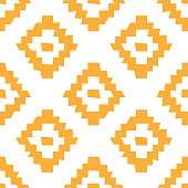 Vector ethnic seamless pattern. Tribal wonky simple geometric design.