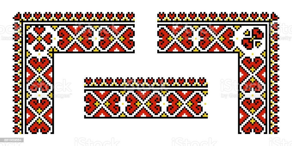 Vector ethnic Ukrainian pattern vector art illustration