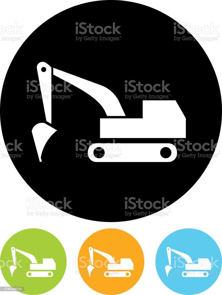 Vector excavator icon vector art illustration