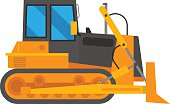 Vector excavator illustration isolated