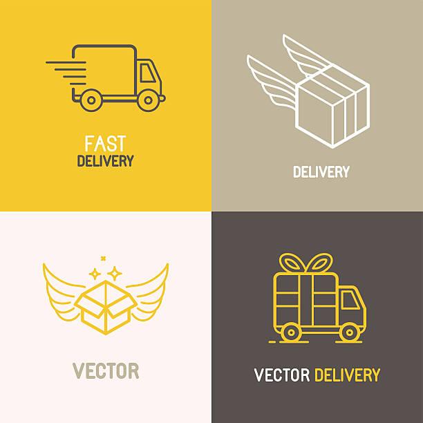 Vector express delivery service logo vector art illustration