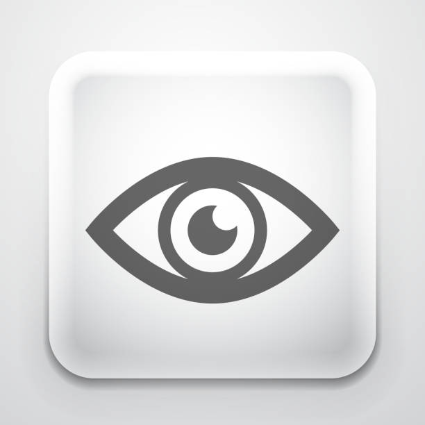 Vector eye button vector art illustration