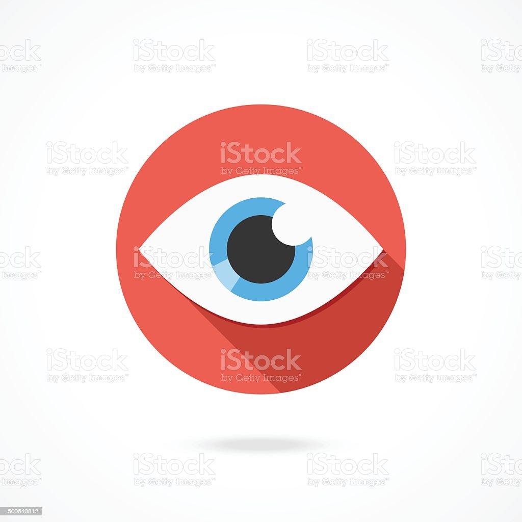 Vektor-Auge-Symbol. Flachen Stil mit langen Schatten-design-logo – Vektorgrafik