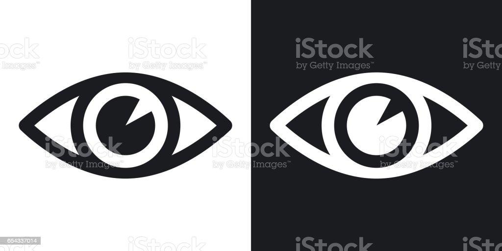 Vektor Augensymbol. Zweifarbige Version auf schwarzen und weißen Hintergrund – Vektorgrafik