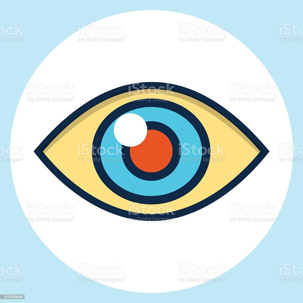Vector eye  icon vector art illustration