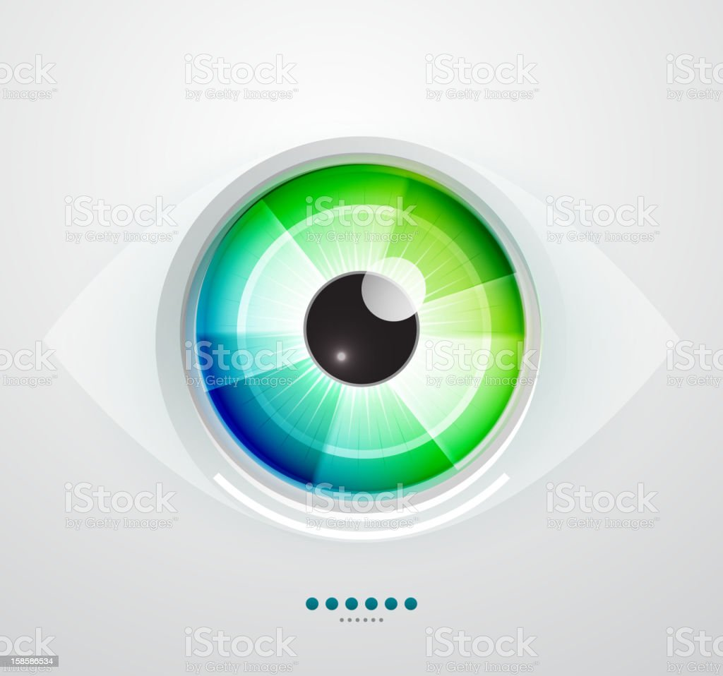 Vector eye vector art illustration