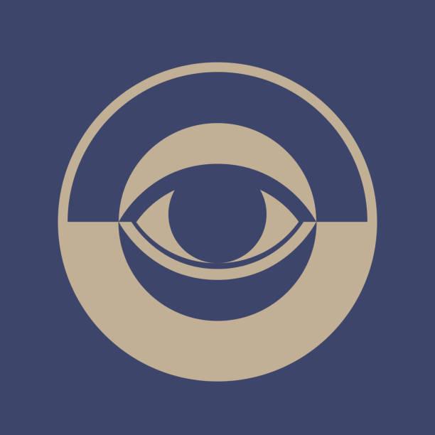 вектор глаз - третье око stock illustrations