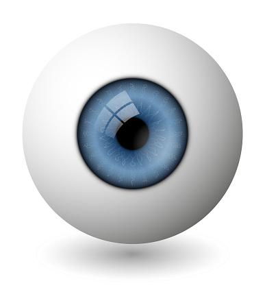 Vector eyeball in gradient style