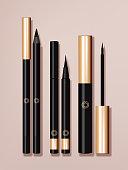 Vector Eyeliner Packaging Set, Black & Gold