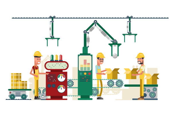 Royalty Free Food Factory Workers Clip Art, Vector Images ...