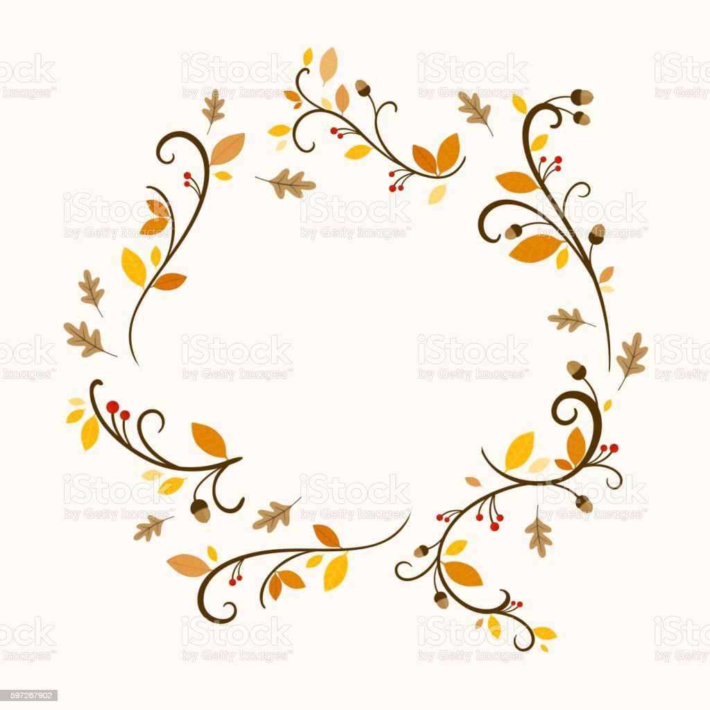 Vector Fall Background Design with Autumnal Leaves and Branches royalty-free vector fall background design with autumnal leaves and branches stock vector art & more images of abstract