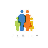 Vector family concept illustration