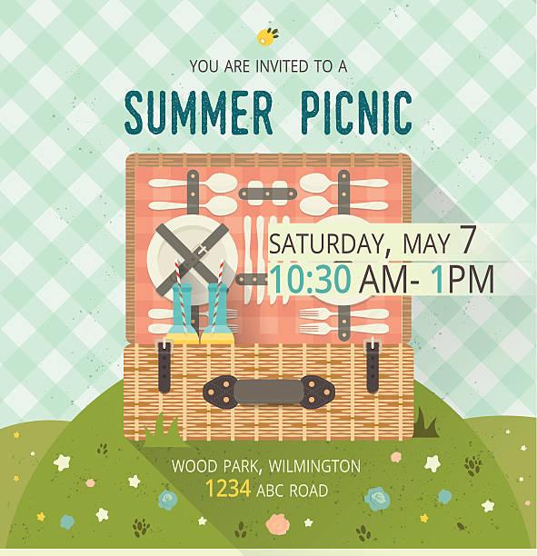 ベクトルのピクニックグレイドカードファミリです。お食事やスポーツイラスト。フラット - ピクニック点のイラスト素材/クリップアート素材/マンガ素材/アイコン素材