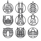 Vector Famous Travel - Icon Set