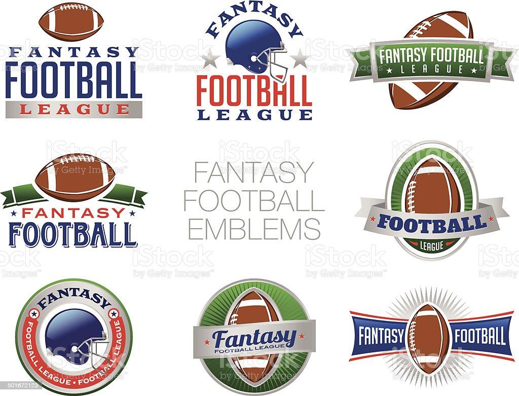 Vector Fantasy Football Emblem Illustrations