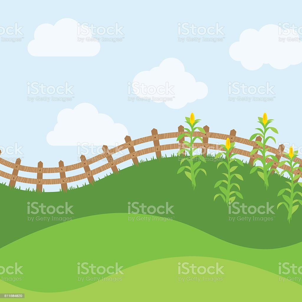 Vector Farm Themed Background vector art illustration