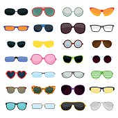 istock Vector fashion glasses isolated on white background 518661246