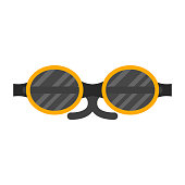 Vector fashion glasses sport equipment