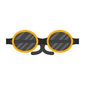 Vector fashion glasses sport equipment