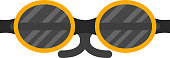 Vector fashion glasses.