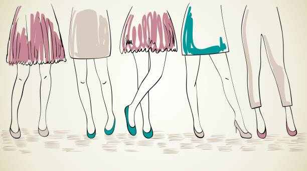 vektor-mode womans. - couture stock-grafiken, -clipart, -cartoons und -symbole