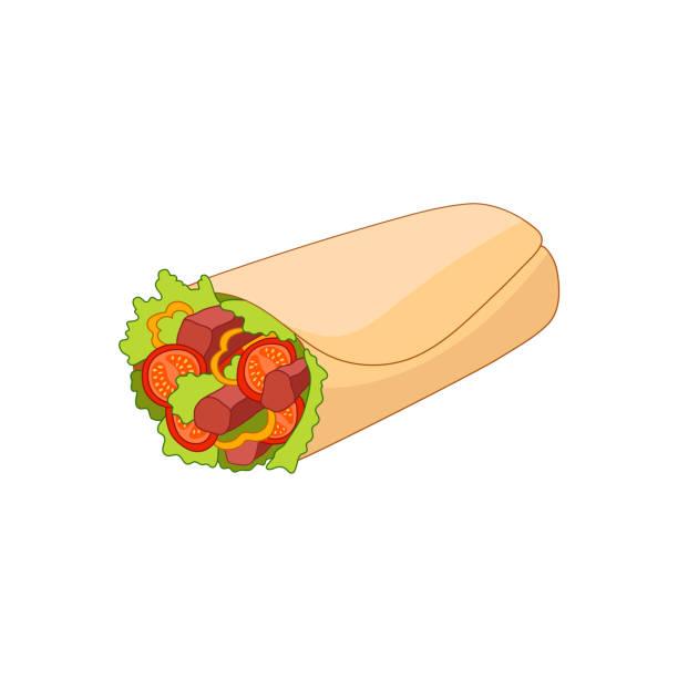 Royalty Free Kebab Wrap Clip Art, Vector Images ...