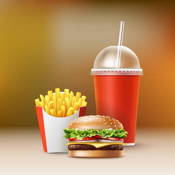 Vektor-Fast-Food – Vektorgrafik