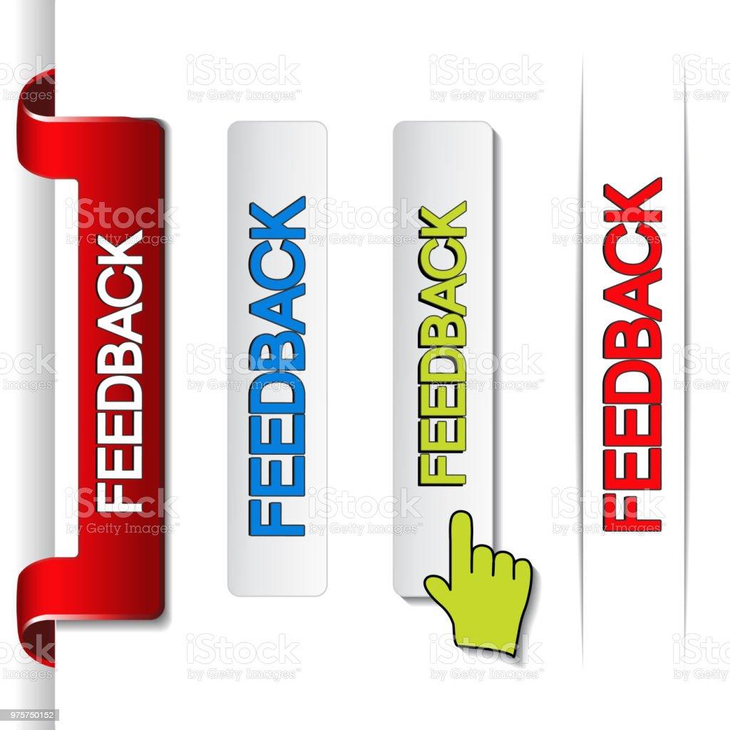 Vektor-Feedback-Etiketten, Papier Sticker, buttons - Lizenzfrei Aktivitäten und Sport Vektorgrafik