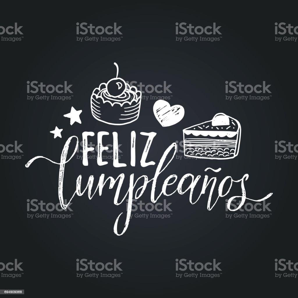 Ilustración de Vector De Feliz Cumpleanos Diseño De Letras Feliz ...
