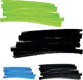 vector felt pen stains set 1, Handmade
