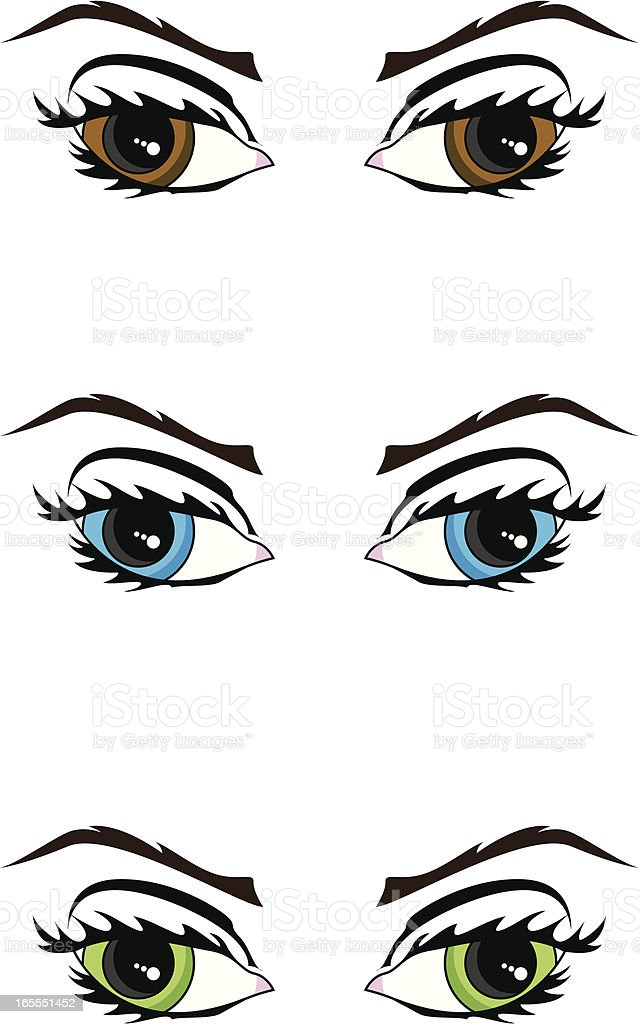 Vector Female Eyes vector art illustration