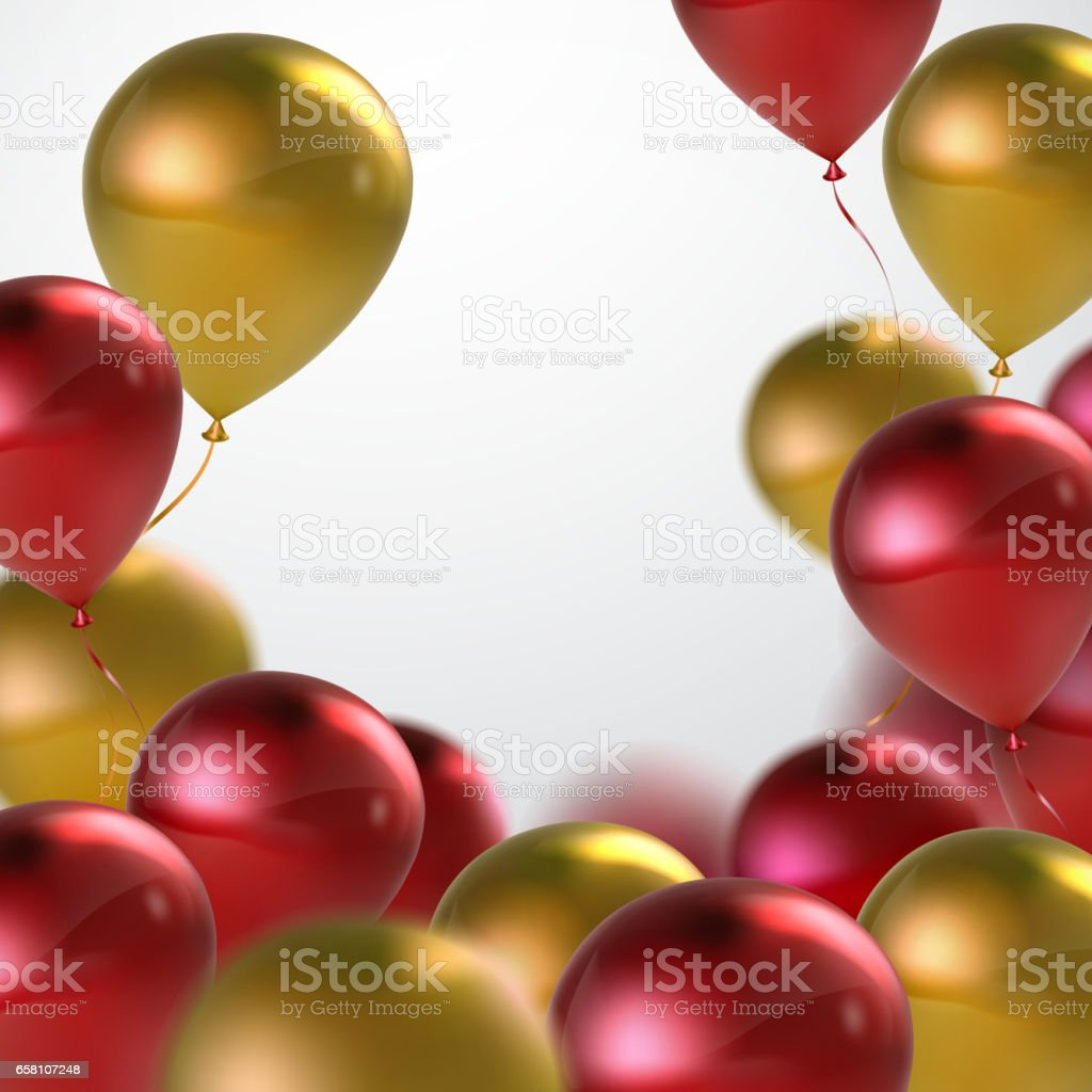 Vector festive illustration of flying realistic glossy balloons. royalty-free vector festive illustration of flying realistic glossy balloons stock vector art & more images of abstract