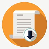 Vector file download icon