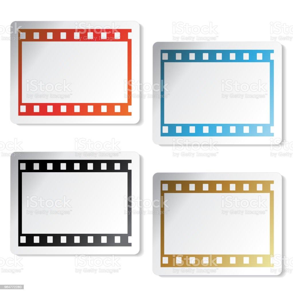 Vector film symbols, stickers royalty-free vector film symbols stickers stock vector art & more images of arrow symbol