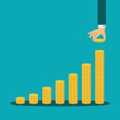 Vector financial growth concept