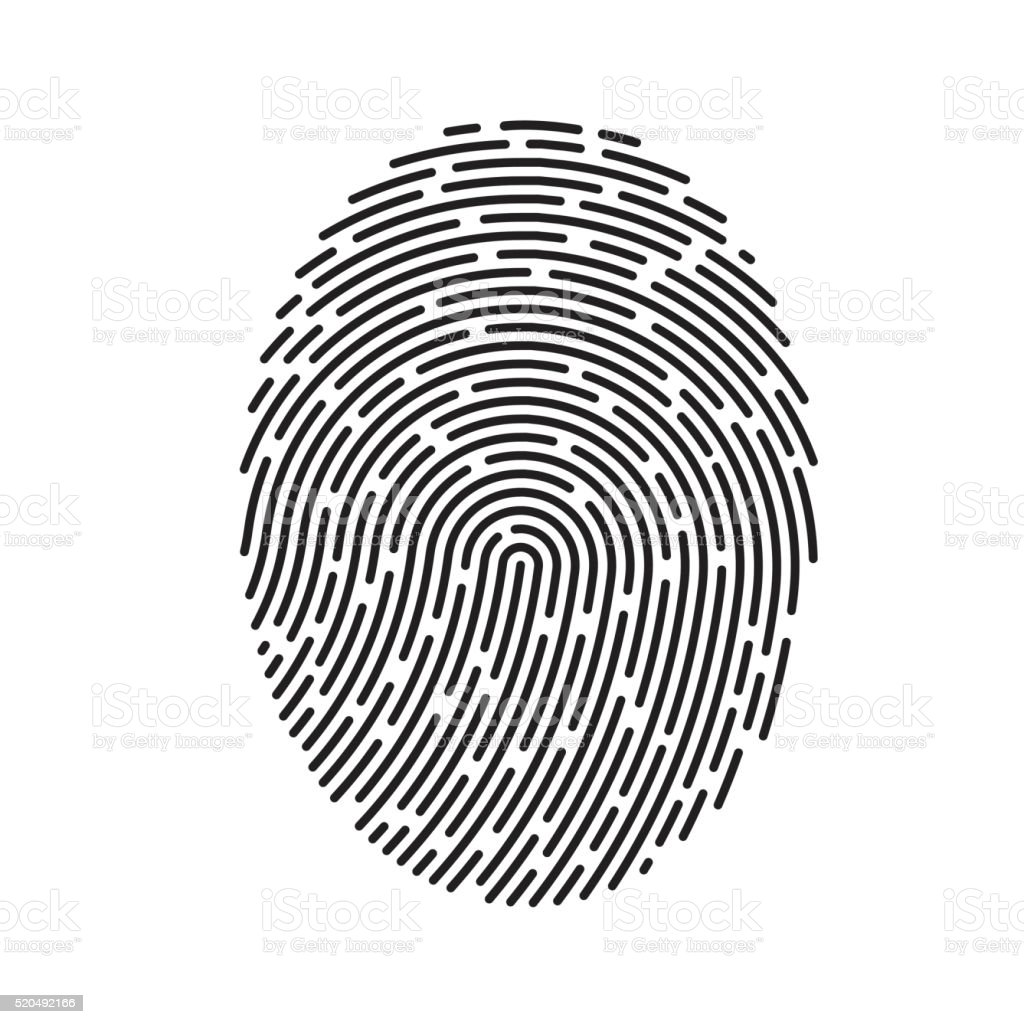 Vector Fingerprint vector art illustration