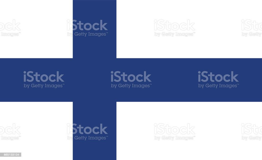 Vector Finnish Flag In Original Ratio and Colors vector art illustration