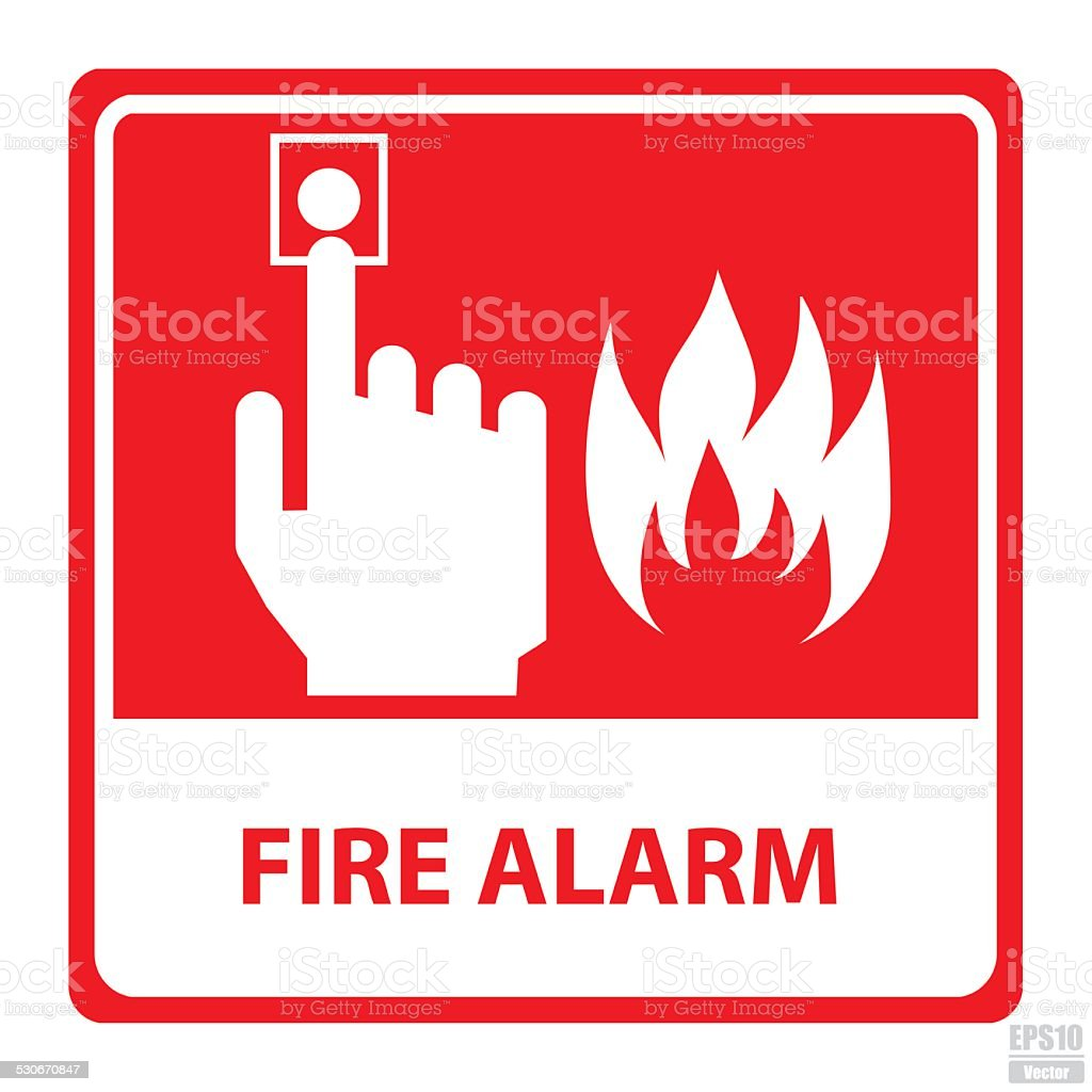 Vector : Fire alarm sign.Eps10 vector art illustration