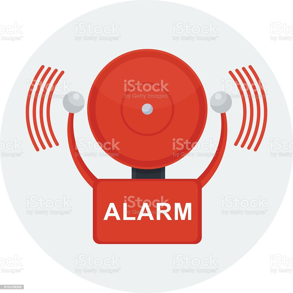 vector fire alarm vector art illustration