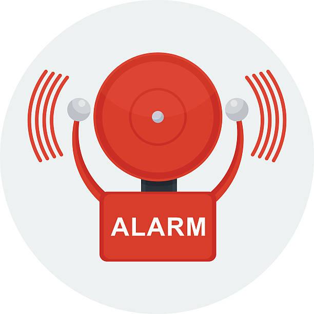 vector fire alarm vector art illustration