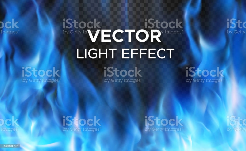 Vector fire flames on transparent background vector art illustration